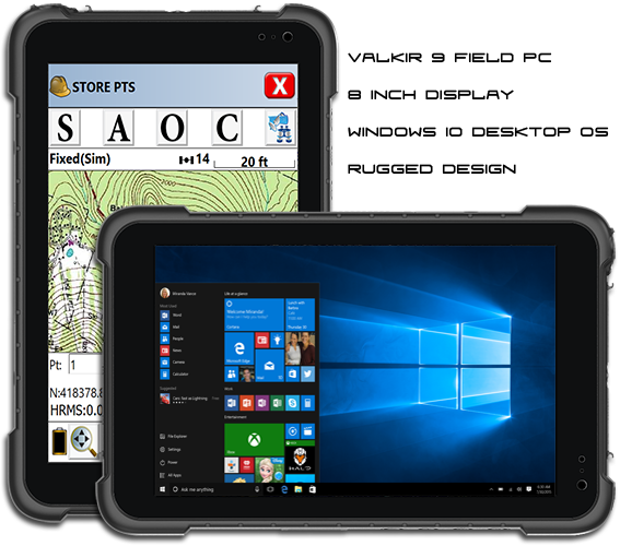 Valkir 9 - Windows 10 PC Rugged Tablet Controller