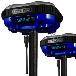 SmaRTK GNSS L1+L2 Base and Rover Set, Internal 2W UHF on Rover and External 35W UHF on Base