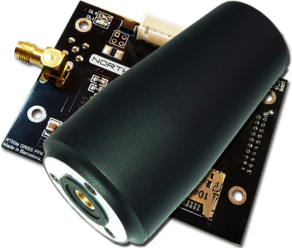 PPKoord PPK GNSS Receiver L1+L2 - with double-Gain Helix GNSS Antenna