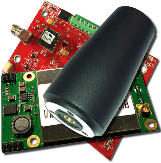 RTKite GNSS Receiver with UHF Tx/Rx Module and Helix GNSS Antenna - TTL 3.3V Logic