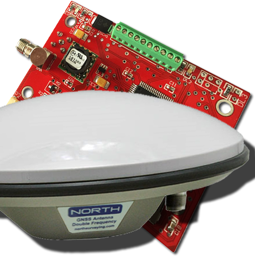 RTKite GNSS Receiver with Surveying GNSS Antenna - SERIAL RS232 Logic