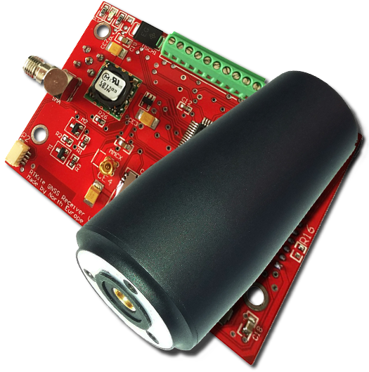 RTKite GNSS Receiver with Helix GNSS Antenna - SERIAL RS232 Logic